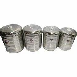 Ankur 4 Stainless Steel Designer Big Dabba for Home, Capacity: 1-20 Ltr