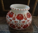 Marble Flower Pot with Flower Design