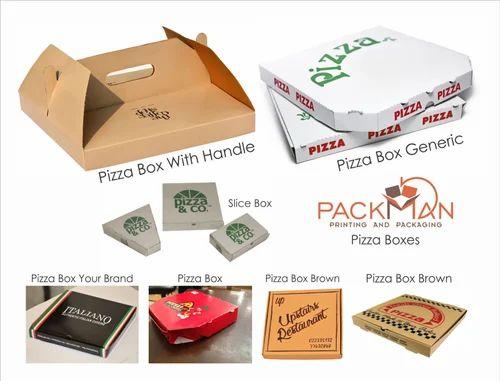 Pizza Box 8 X 8 X 2 Inches - 3 Ply Corrugated Box