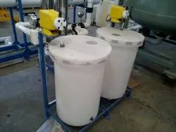 White Plastic Industrial Drums