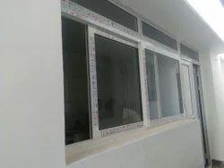 White Open UPVC Modern Window