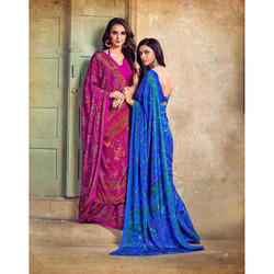 Designer Ladies Crepe Saree