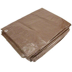 Brown Fireproof Canvas Poly Tarpaulins