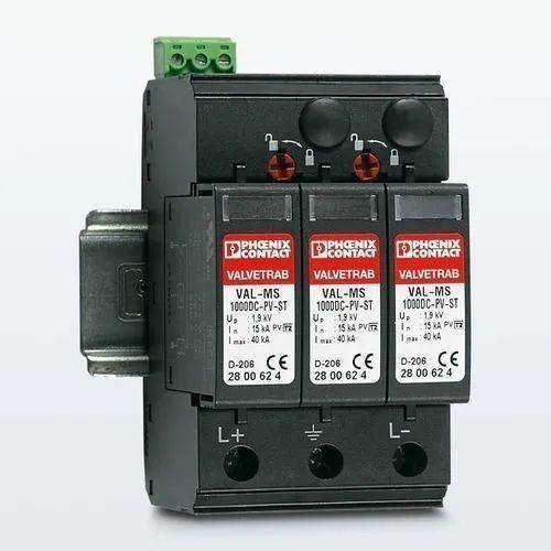 Phoenix Make DC SPD 1000V, Model Name/Number: Val-ms 1000dc-pv/2+v, For For Solar