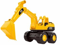 Plastic Nabhya JCB Construction Friction Power Rev-Up Vechicle Toy
