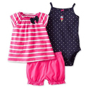 Baby Girls 3 Piece Diaper Cover Set