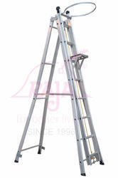 Self Supported Extendable Aluminium Ladder
