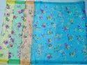 Ladies Flower Border Print Kota Silk Saree