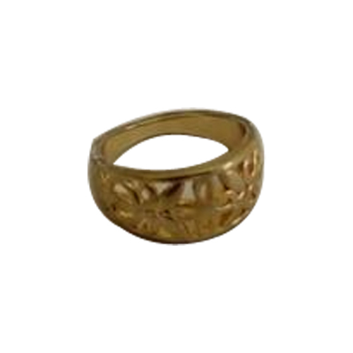Brass Gold Plated Ring, Packaging Type: Box