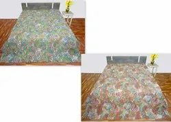 Paisely Design Kantha Bed Cover / Quilt
