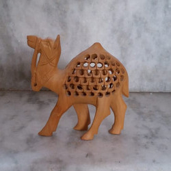 Wooden Carved Camel Statue