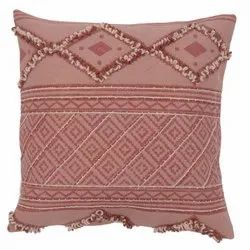 Embroidered Traditional Geometric Pattern Cotton Cushion Cover