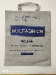 Handled Grey Milange Cotton Bags, Size/Dimension: 16x19