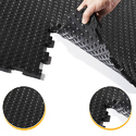 Vikas Rubbers Rubber Reversible Interlocking Tiles, Size: Medium And Large