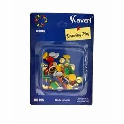 Kaveri Round Drawing Pins, Packaging Size: 100 Pieces Per Packet, Size: 11 Mm