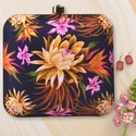Lotus Flower Printed Clutch