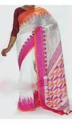 Linen Templework Sarees