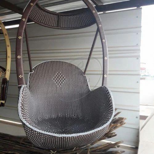 Black Metal Indoor Wicker Swing Chair Rs 25000 Piece Lanka Craft