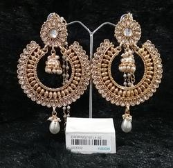 Kundan Chandbali Chandelier Fashion Earrings