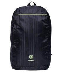 Black And Green Plain Backpack