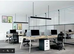 workstation linear sharing 4 seater