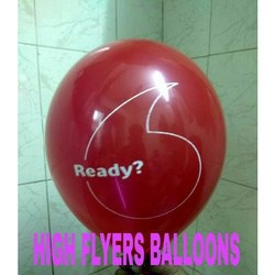 Red Latex Printing Balloon