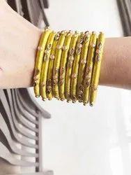 Beautiful Indian Thread Designer Stone Studded Wedding Bangles from India