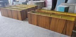 Rectangular Wooden Finish Planter