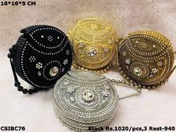 Beautiful & Elegant Round Shaped Metal Clutches