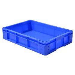 Blue Rectangular Plastic Fruit Crate, For Storage, Capacity: 15 Liter