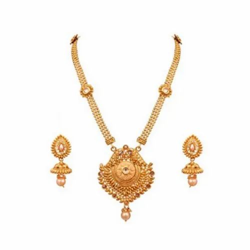 Ladies Party Golden Necklace Set
