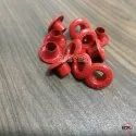 No. 700 Brass Embossed Eyelets Red