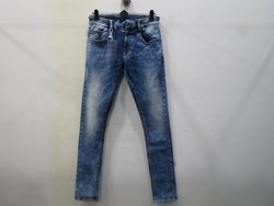 Mens Light Blue Slim Fit Stretch Jeans(PW-026)