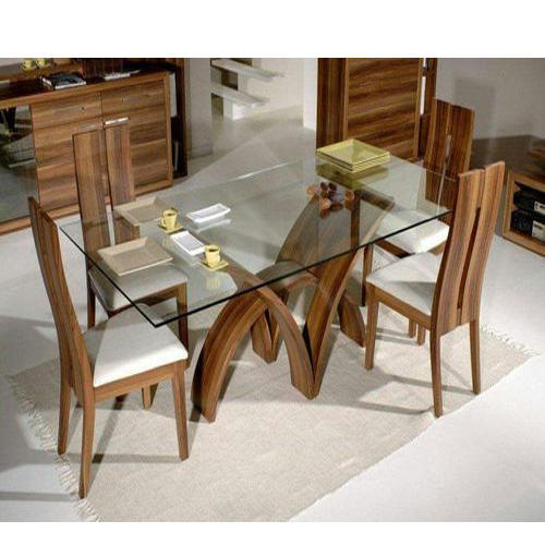 Glass Top Dining Table At Rs 48 Set Glass Dining Room Table Impressive Glass Topped Dining Room Tables