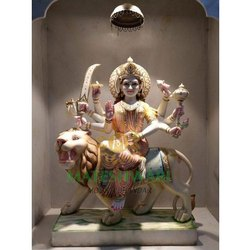 Marble Durga mata sculpture