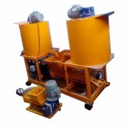 Mild Steel Continuous Flow Cement Grout Pump Machine, Max Flow Rate: 60 Lpm