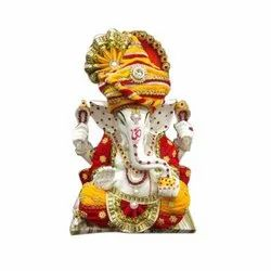 12 Inches Marble Ganesh Statue