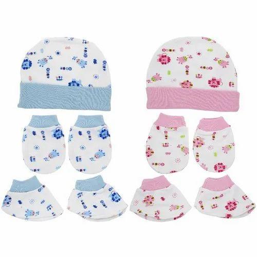 Cotton Newborn Baby Hats Socks Mittens