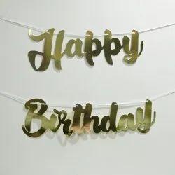 Happy Birthday Golden Banner