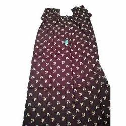 Printed Ladies Round Neck Cotton Nighty, Size: Free Size