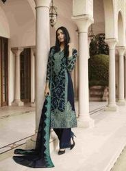 Navy Blue Beautiful Embroidery Salwar Suit