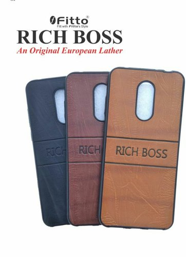 low cost 61b9d bc90e Rich Boss Leather Back Cover