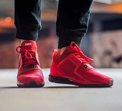 Puma Red And Black Ignite Shoes, Size