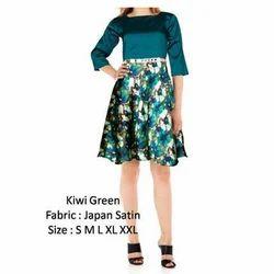 Kiwi Green Casual Western One Piece Dress
