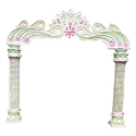 Fiber Pillar Wedding Gate