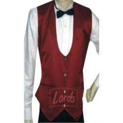 Waist Coat Maroon For Waiter Waitress & Party Wear
