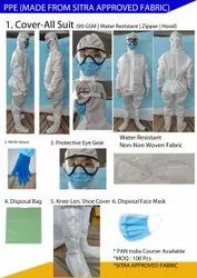 Laminated Non Woven  Unisex PPE Kits