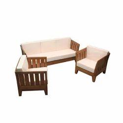 Brown Designer Wooden Sofa Set, For Home