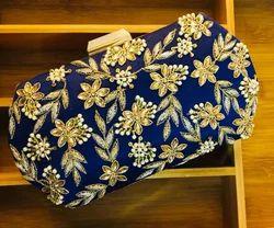 Zardosi Kundan Handwork Box Clutches