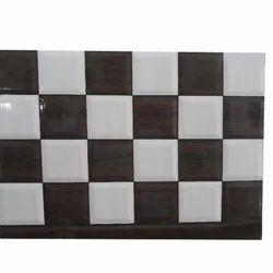 Ceramic White, Brown Glazed Wall Tile, 5-10 Mm